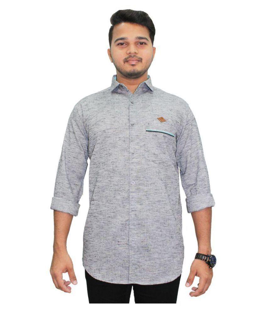 Kuons Avenue Grey Slim Fit Shirt
