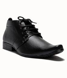 Advanced Derby Genuine Leather Black Formal Shoes