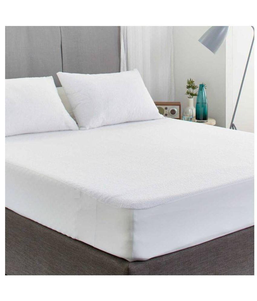 AVI King Size Waterproof White Cotton Mattress Protector ...