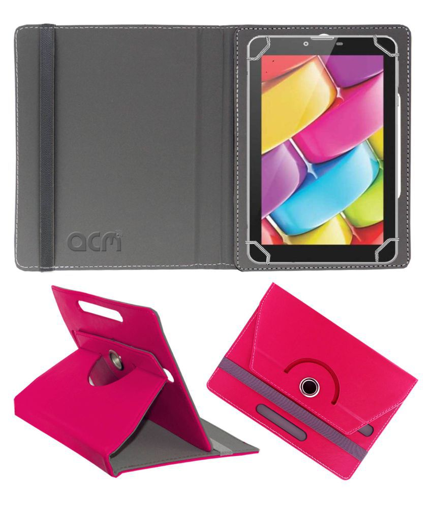Bsnl Penta Ws704dx Flip Cover By ACM Pink
