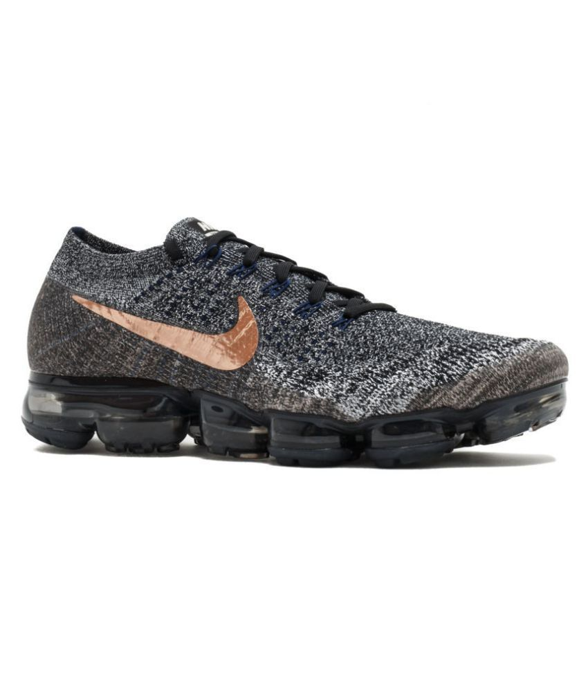 7839778e8d09 Nike AIR VAPORMAX FLYKNIT Gray Running Shoes - Buy Nike AIR VAPORMAX FLYKNIT  Gray Running Shoes Online at Best Prices in India on Snapdeal
