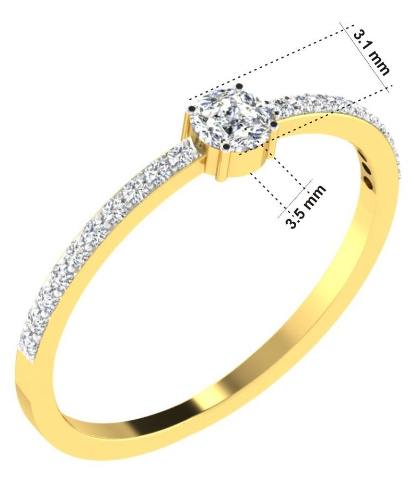 His & Her 9k Yellow Gold Ring