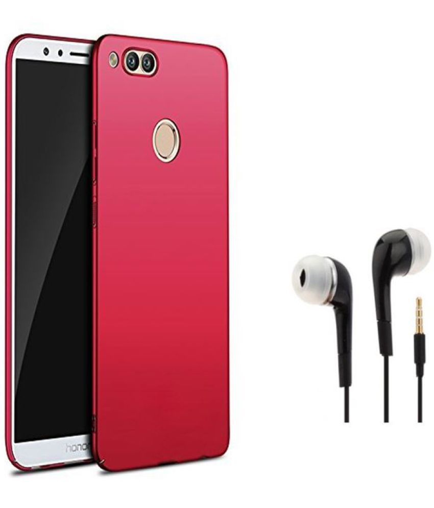 best service 8a2f1 145e9 Honor 9 Lite Plain Cases Tidel - Red