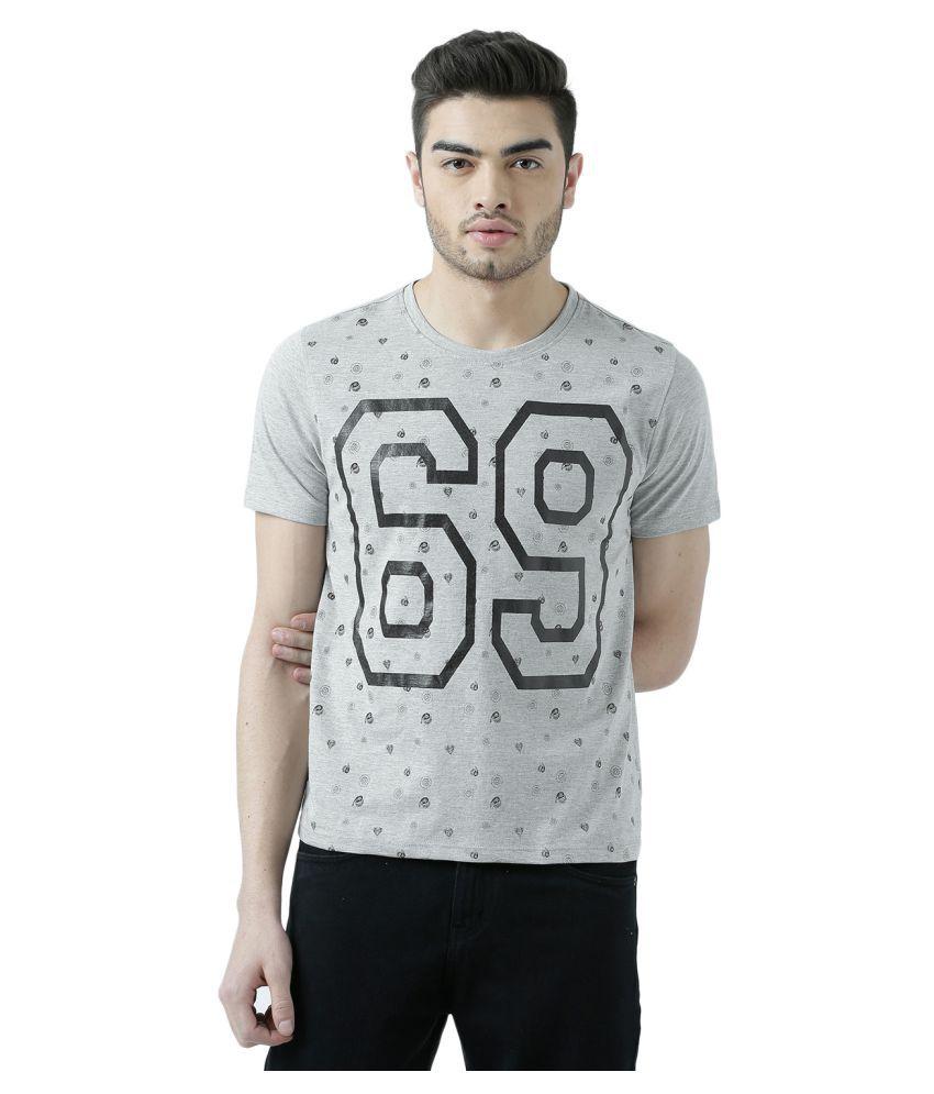 Wear Your Mind Grey Round T-Shirt