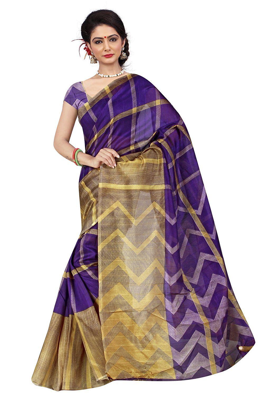 Dhyana Creation Blue Bhagalpuri Silk Saree