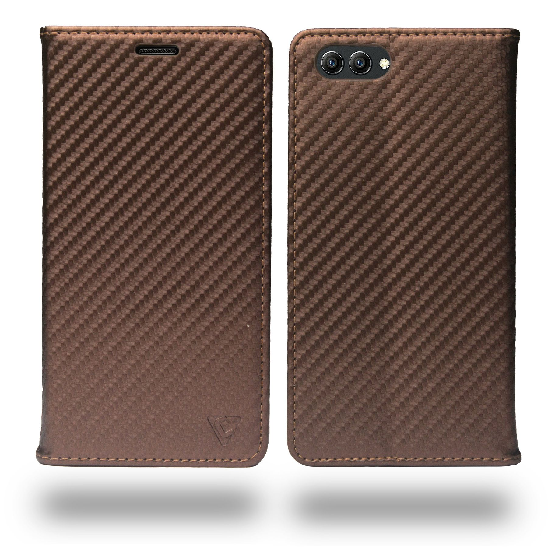 save off bea81 3a1bb Huawei Honor View 10 Flip Cover by Ceego - Brown