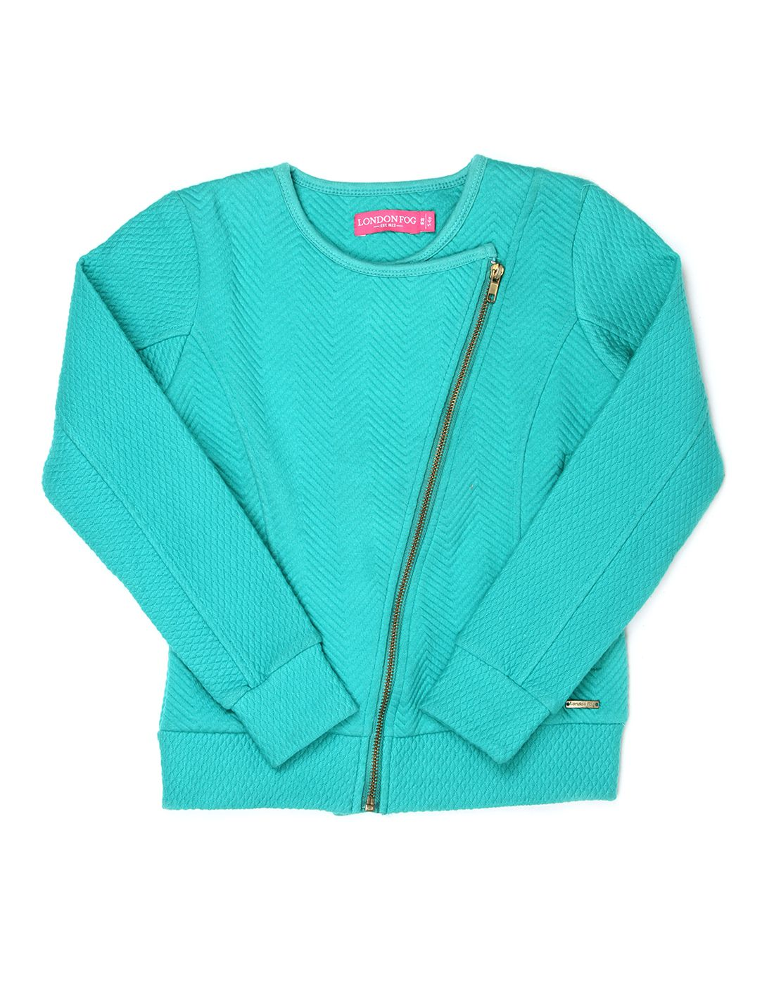 London Fog Girls Green Full Sleeve Jacket