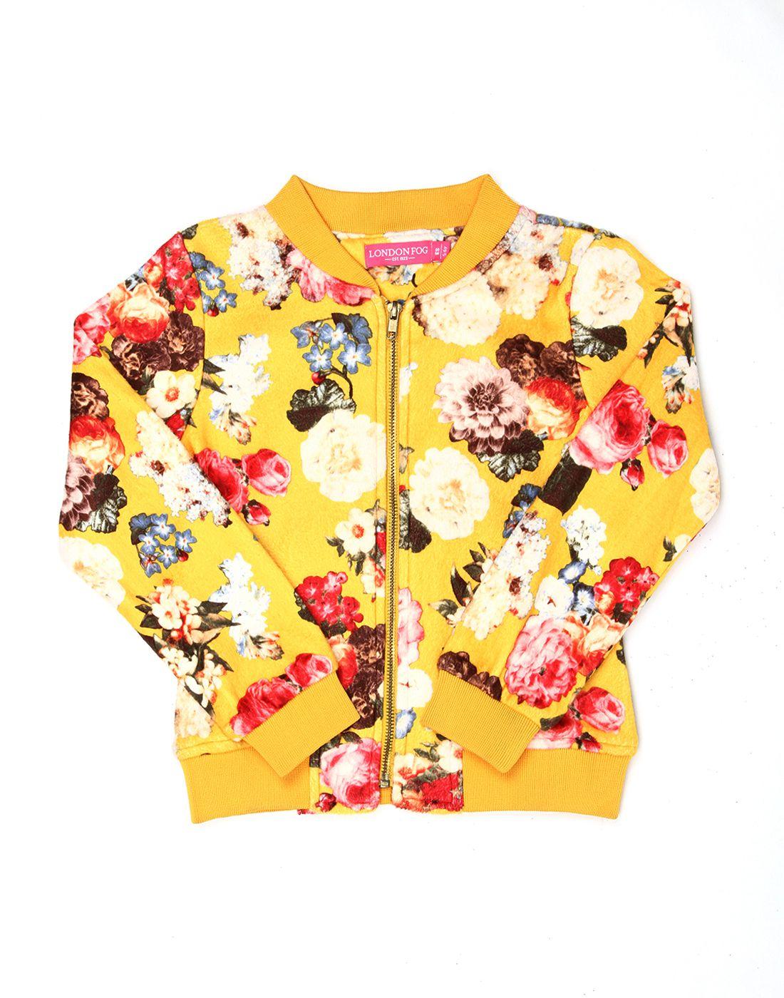 London Fog Girls Multi / Yellow Full Sleeve Jacket