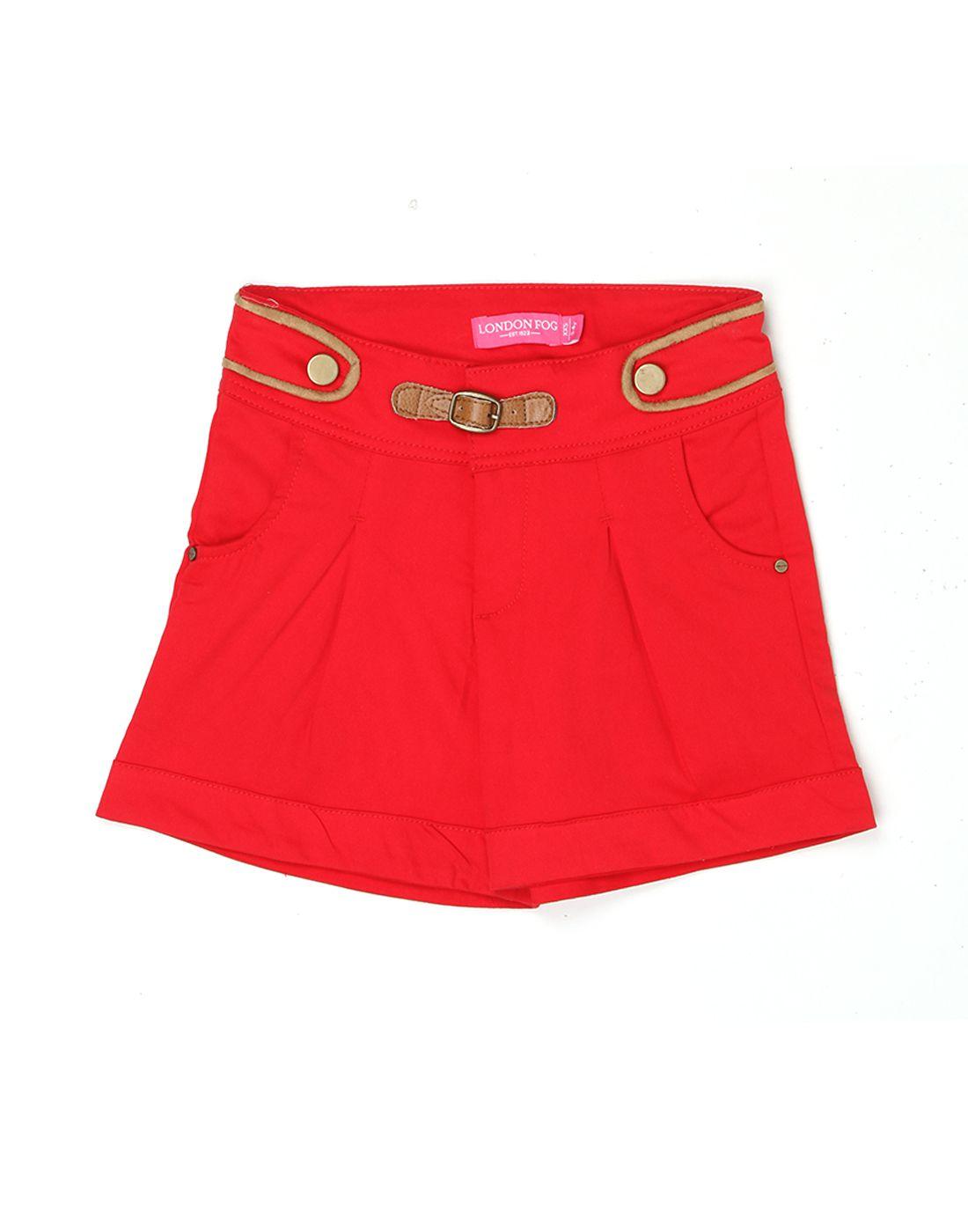London Fog Girls Red  Short