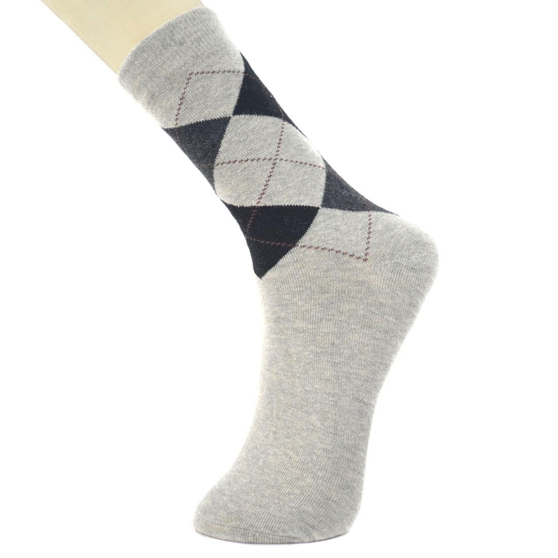 novasox Gray Casual Mid Length Socks
