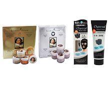 Shahnaz Husain Gold & Diamond Facial Kit(40g Each) + Charcoal Mask 130ml