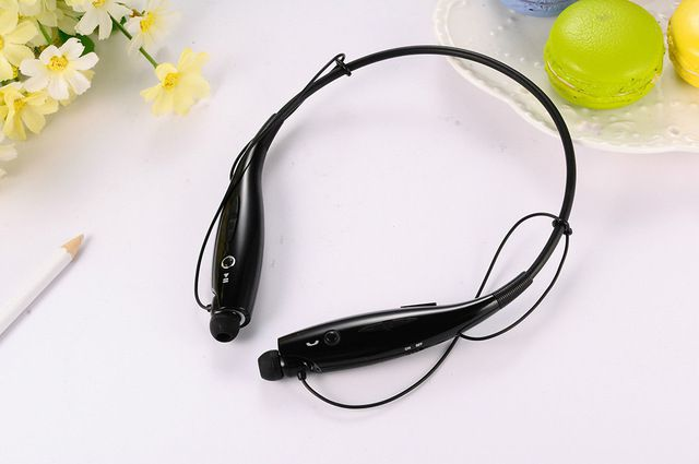 WowObjects 730 New Gold Color Neckband Bluetooth Headsets Sport Wireless Earphones V4.0 Running Music Phone Headphones Handsfree