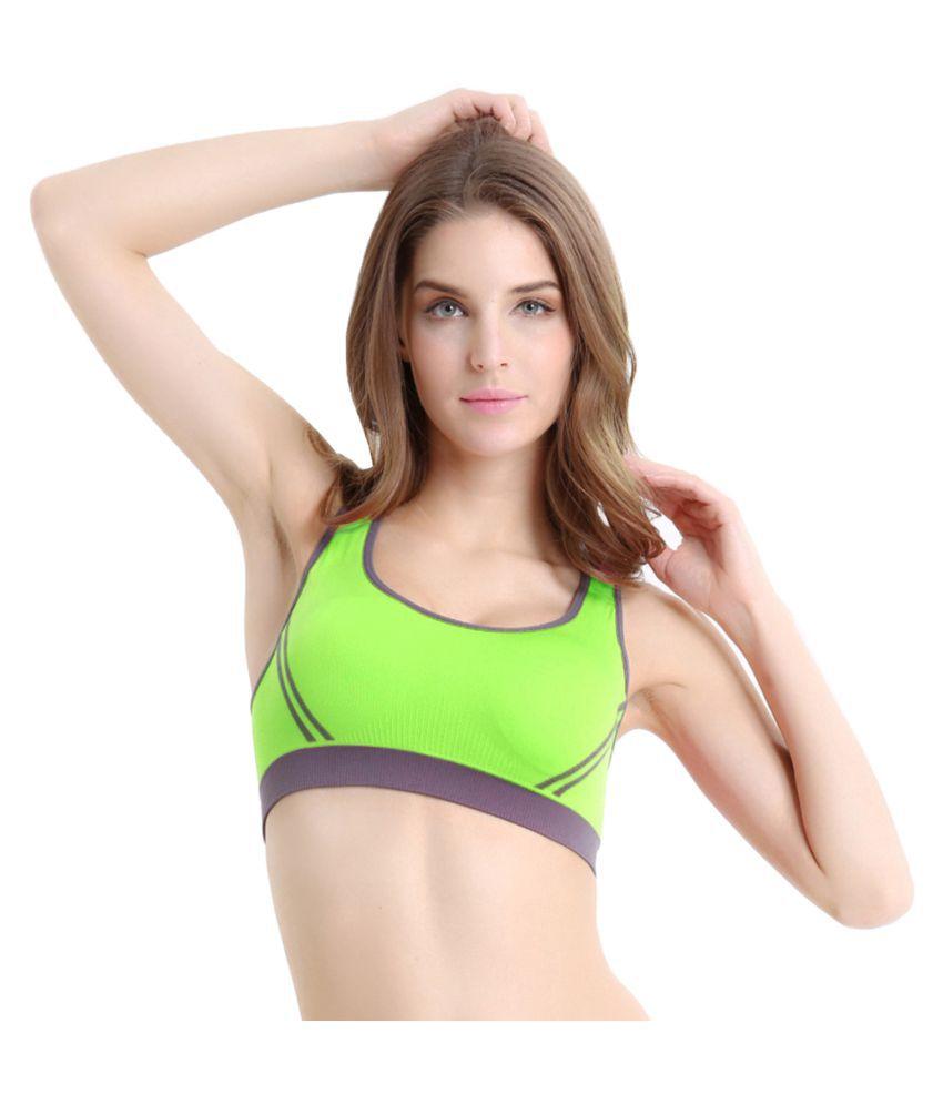 Gopalvilla Nylon Sports Bra - Green
