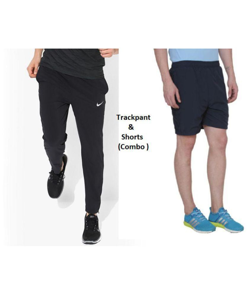 011e395d3db0 Nike Black Men Boy s TrackPant and Shorts Combo Pack  Buy Online at ...
