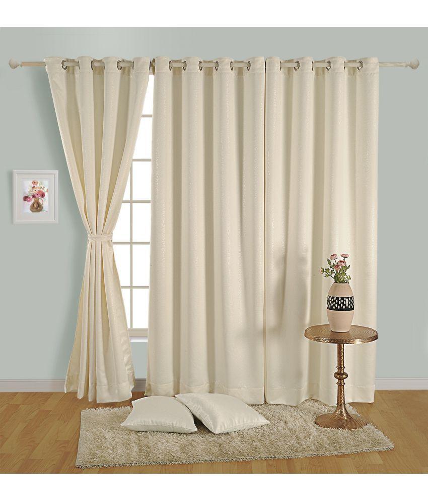 Swayam Single Door Eyelet Curtains Paisley Off White