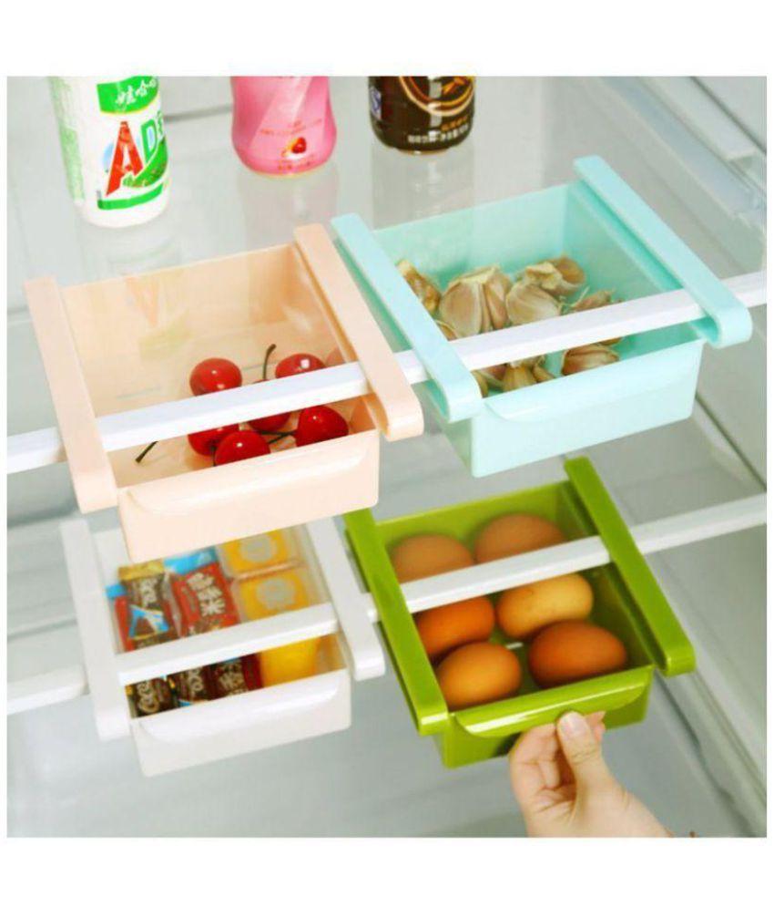 Multicolor Multipurpose 4 Pcs Fridge Storage Drawer