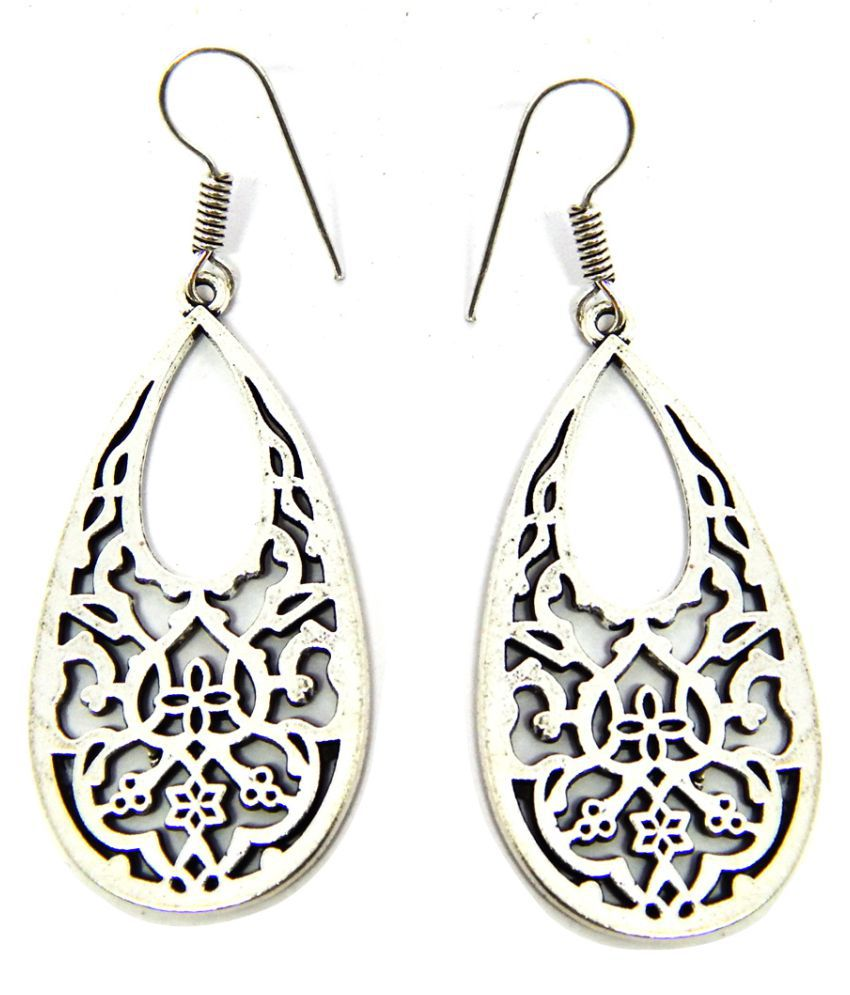 Fig n Honey Pure German Silver Earrings with Dangle and Drop from Best Designers Earrings
