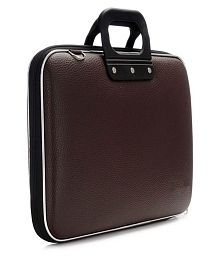 Brown P.U.Leather Office Laptop Bag