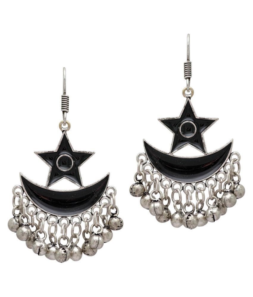 Black Color Afghani Earrings For Girls & Women