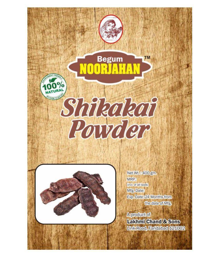 Begum noorjahan Shikakai Powder Semi Permanent Hair Color Black 400 gm