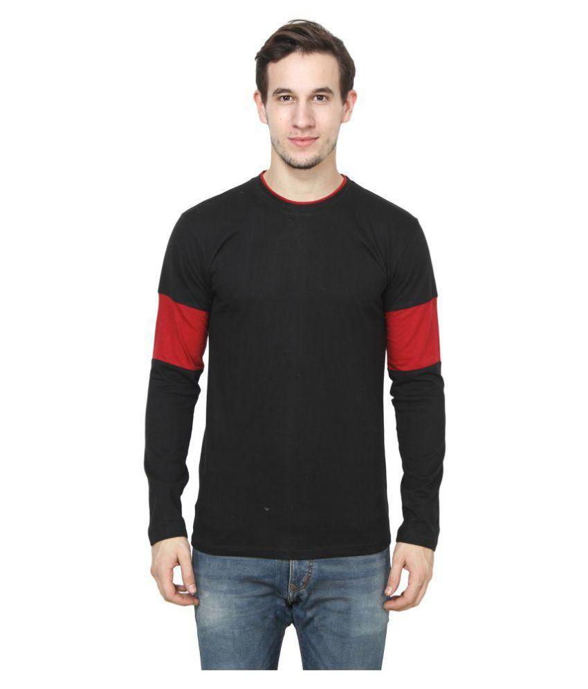A3 UNIQUE Black Round T-Shirt Pack of 1