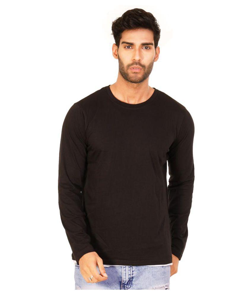 Halftone Black Round T-Shirt