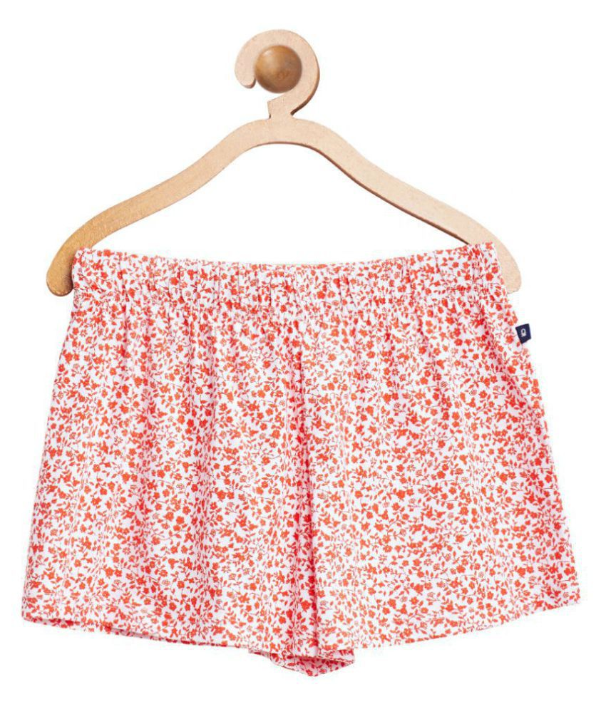 United Colors of Benetton Red Printed Knit Shorts - 16P3A4UI0248G75JS