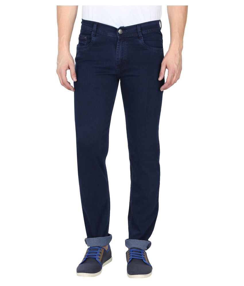gradely Navy Blue Regular Fit Jeans
