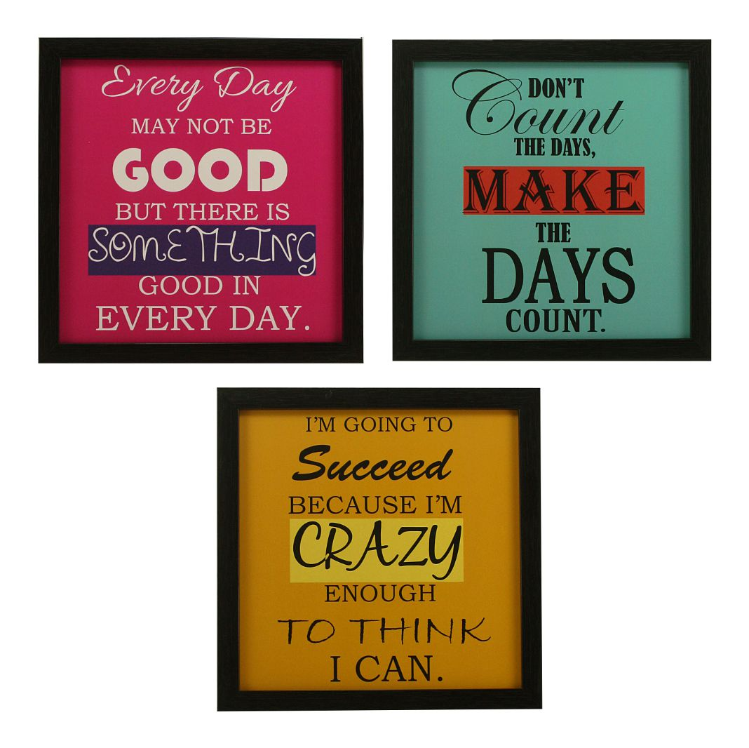 Indianara Motivational Décor MDF Painting With Frame