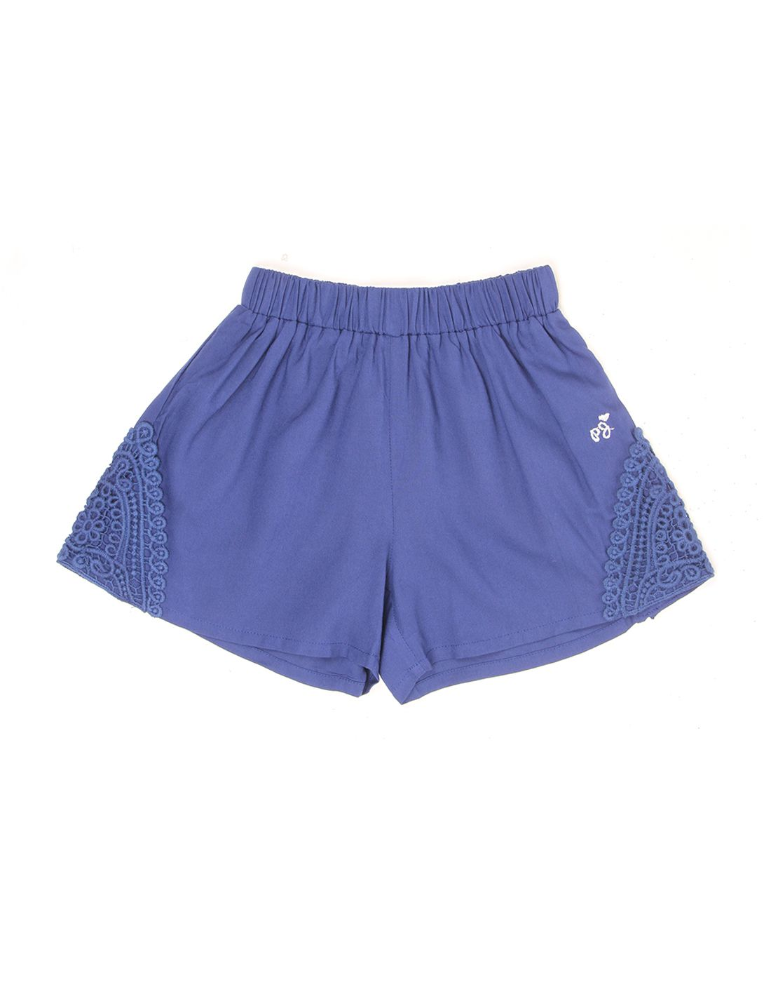 Pepe Jeans Girls Blue Solid Short
