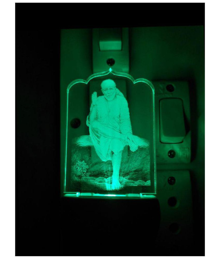 Shinde patil exports Saibaba colour changing Night Lamp Multi - Pack of 1