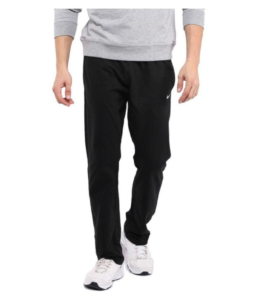Nike Black Polyester Lycra Men/Boy's trackPant