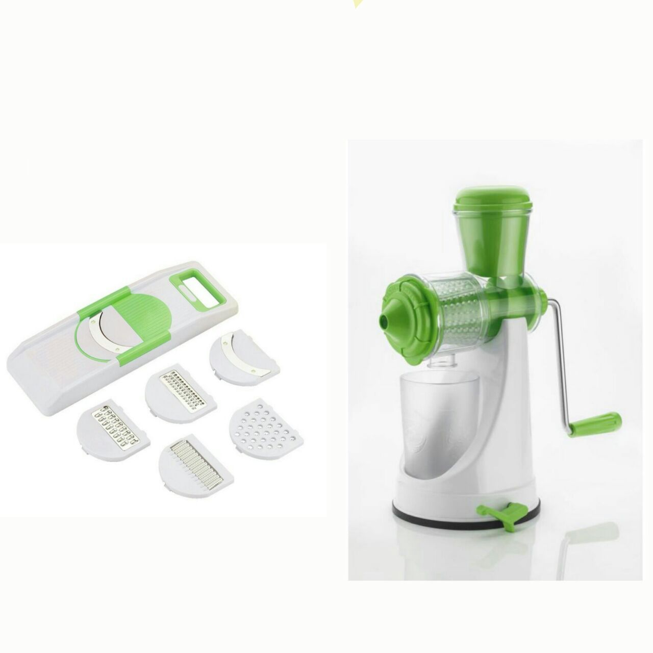 Best Combo Of Fruit Vegetable Premium Green White Manual Hand Juicer Mixer 6 In 1 Veg Slicer Grater Multi Purpose By STARDUST Buy