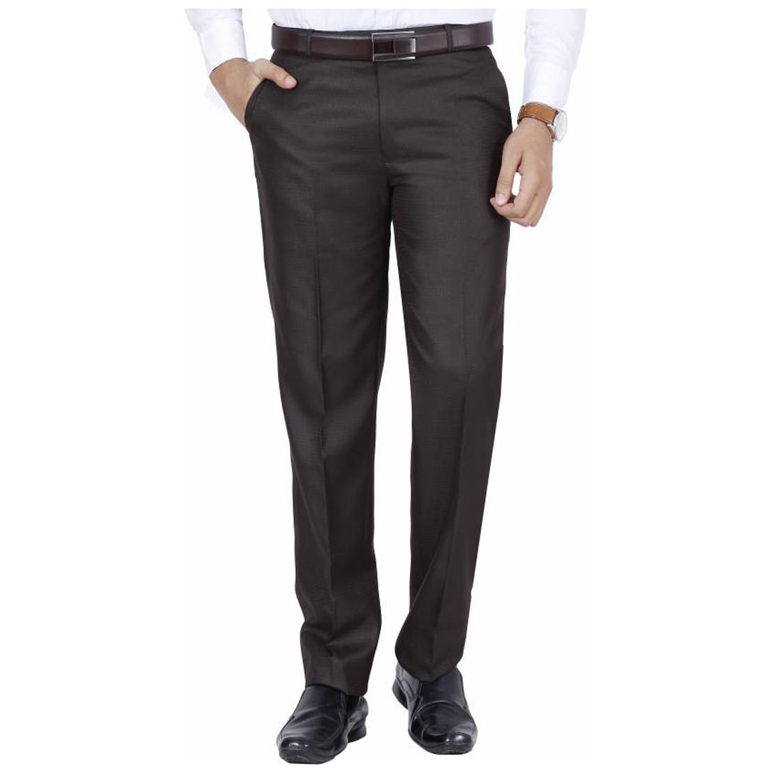 Buke Brown Regular -Fit Flat Trousers