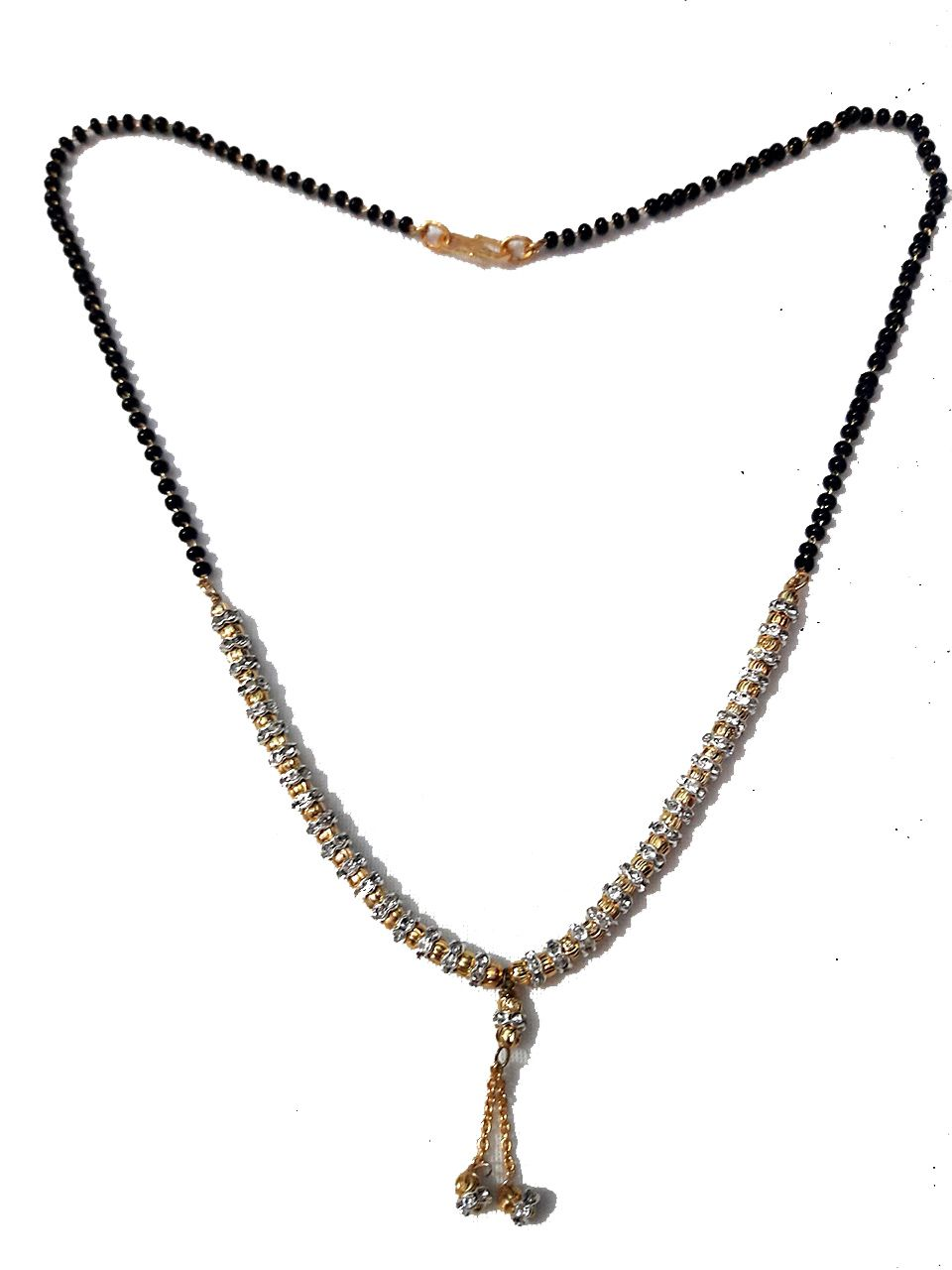 OM Arts American Diamond Gold Plated Partywear Collection Mangalsutra For Women