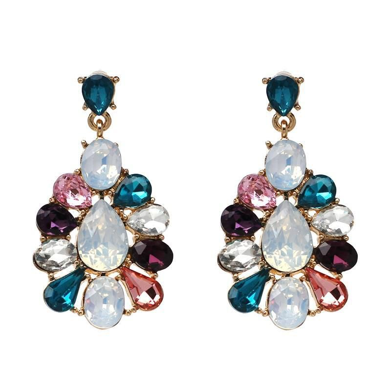 Bling Style Flora Crystal Statement Earrings