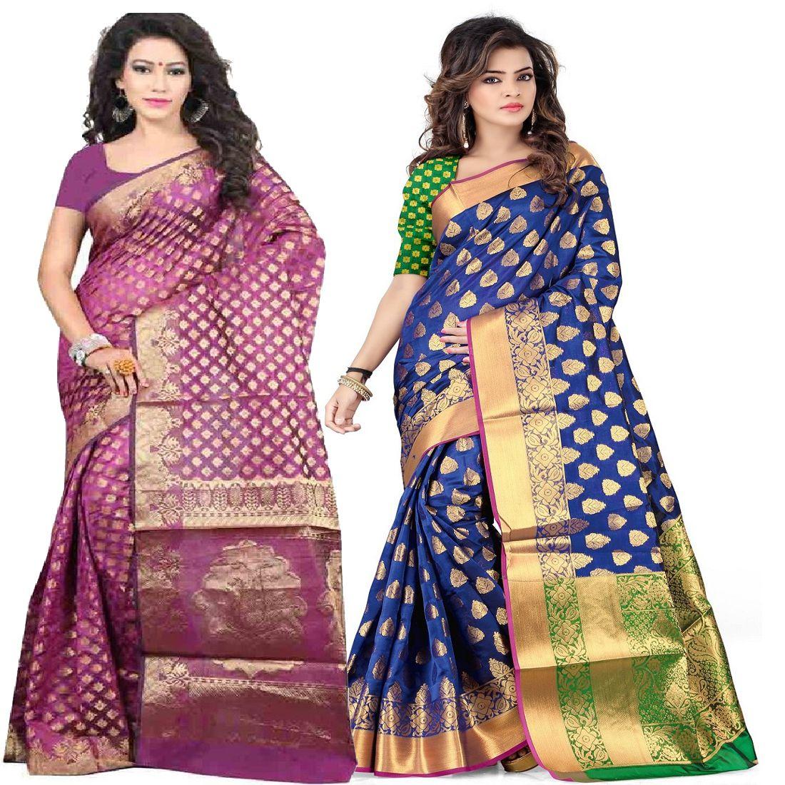 GANGA SHREE Multicoloured Banarasi Silk Saree