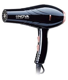 NOVA Silky Pro Professional hot and cold 1800 w NHD-2828 Hair Dryer (Black) Hair Dryer ( Black )