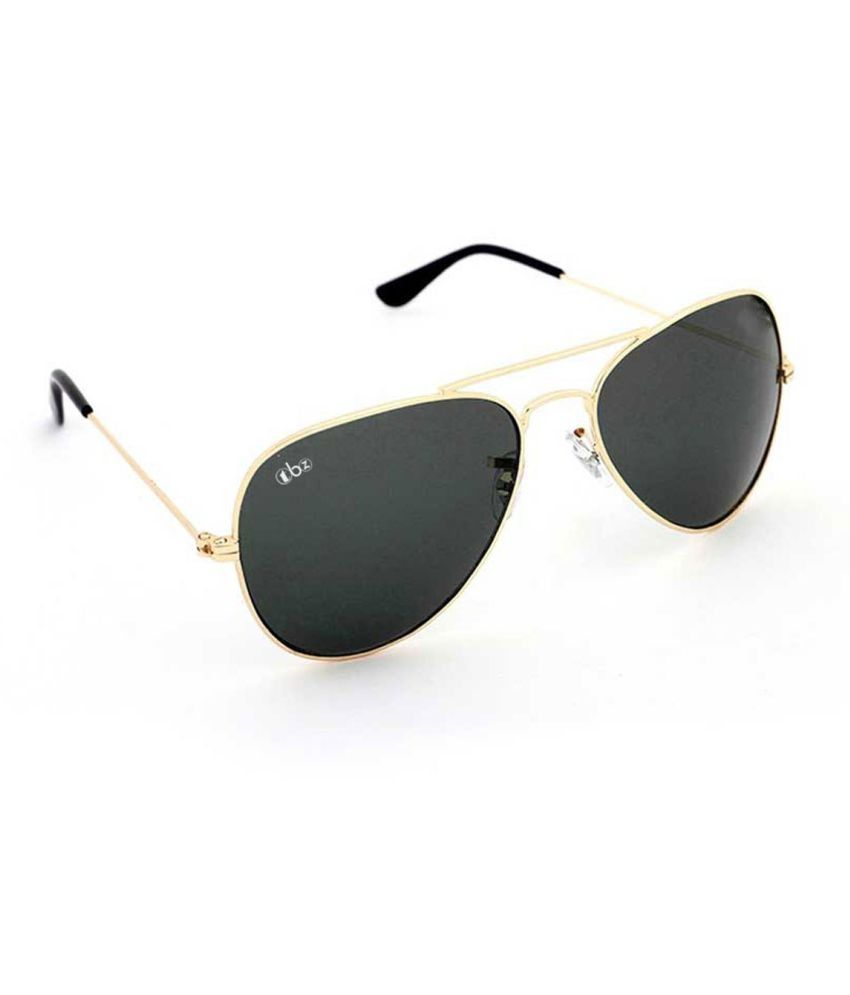 TBZ Black Aviator Sunglasses ( SG-BLK-GLD_B )