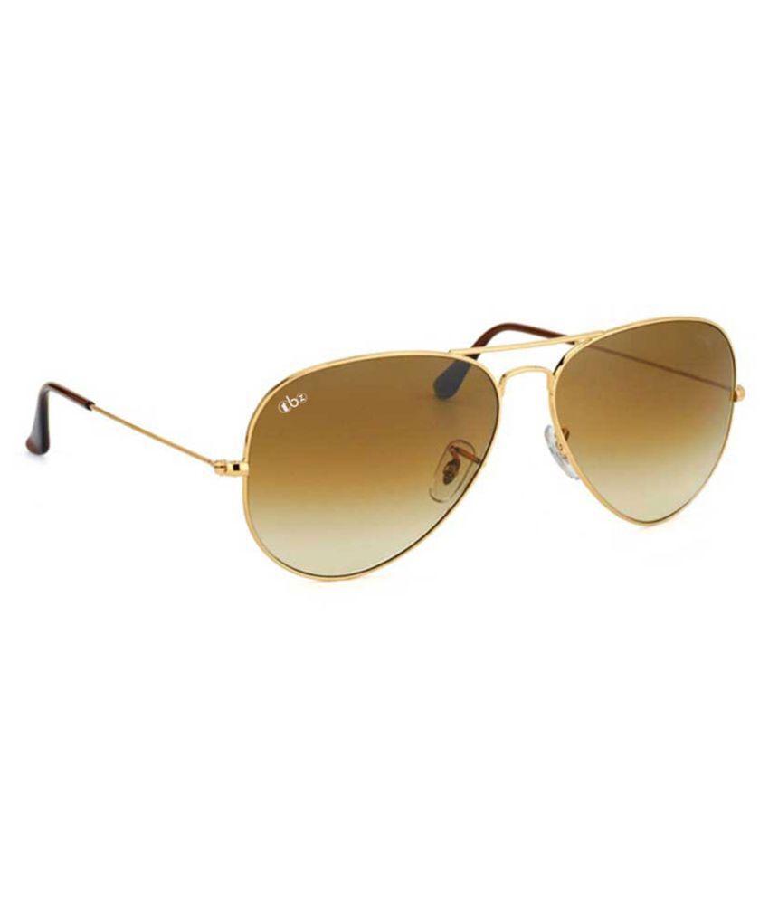 TBZ Brown Aviator Sunglasses ( SG-BWN-GLD_B )