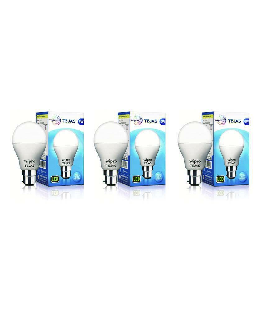 Wipro 9W Pack of 3 LED Bulb