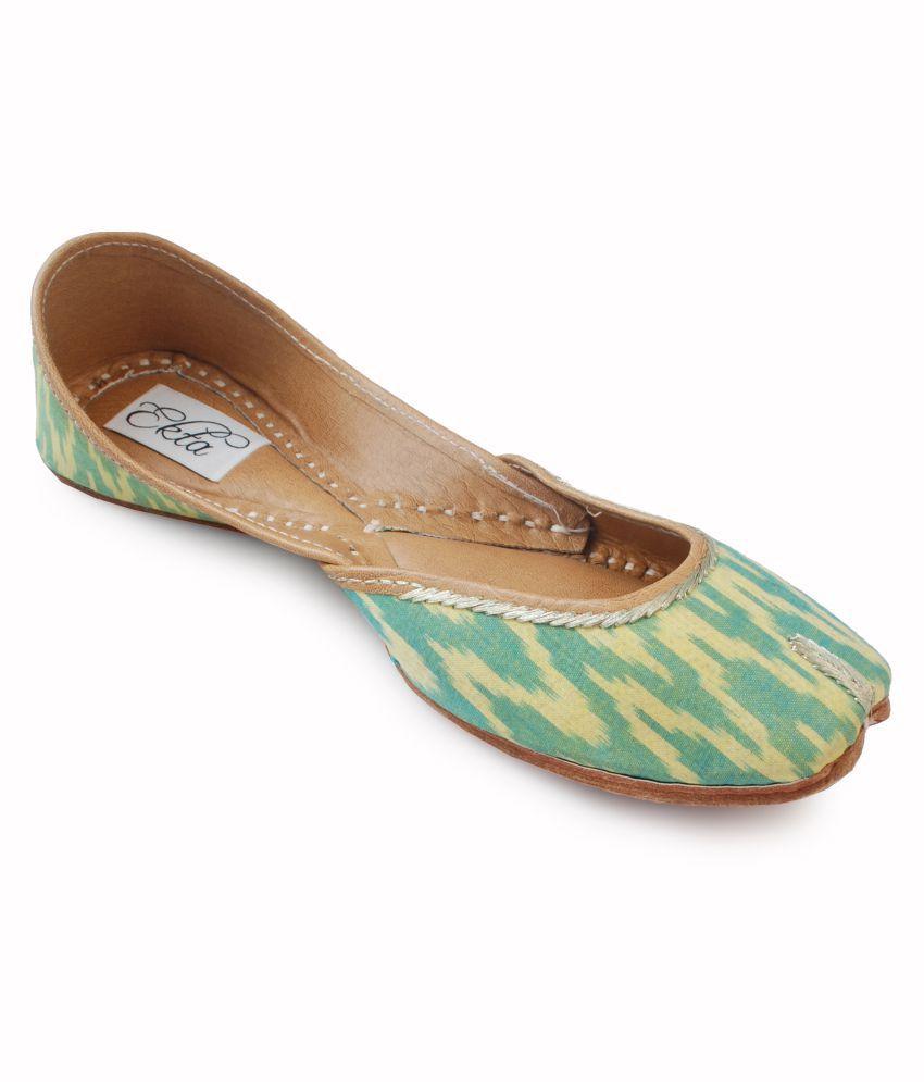 Ekta Green Ethnic Footwear