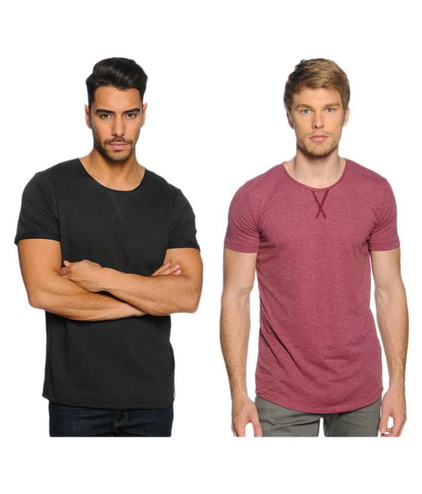 Zachi Multi Round T-Shirt Pack of 2