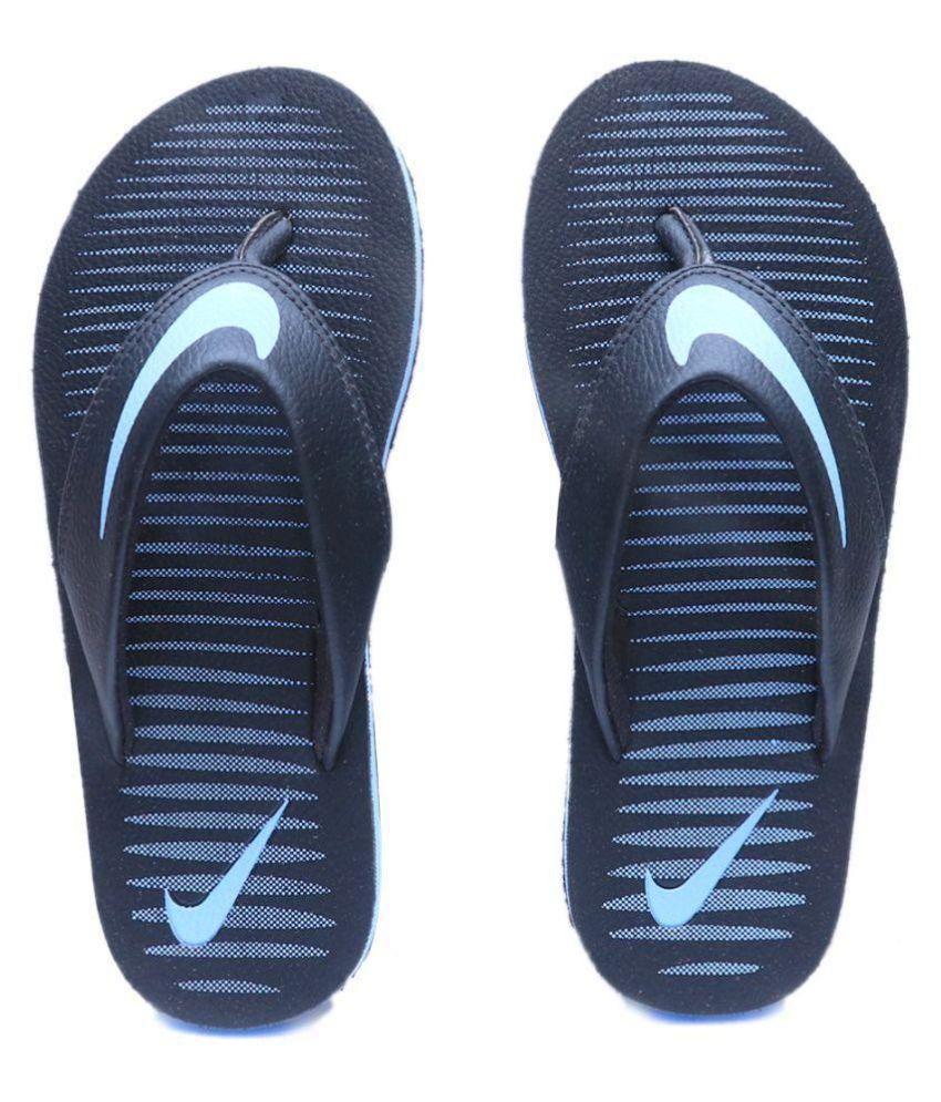 Nike Chroma Thong 5 Sky Blue Black Thong Flip Flop ...