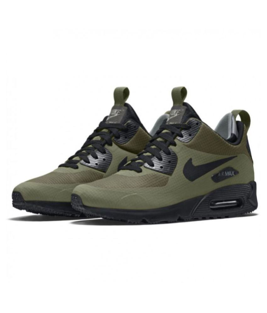 new style 3ca29 7af01 Nike AIRMAX 90 2018 Green Running Shoes - Buy Nike AIRMAX 90 2018 Green  Running Shoes Online at Best Prices in India on Snapdeal