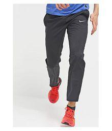 Nike Blue Polyester Lycra Trackpants
