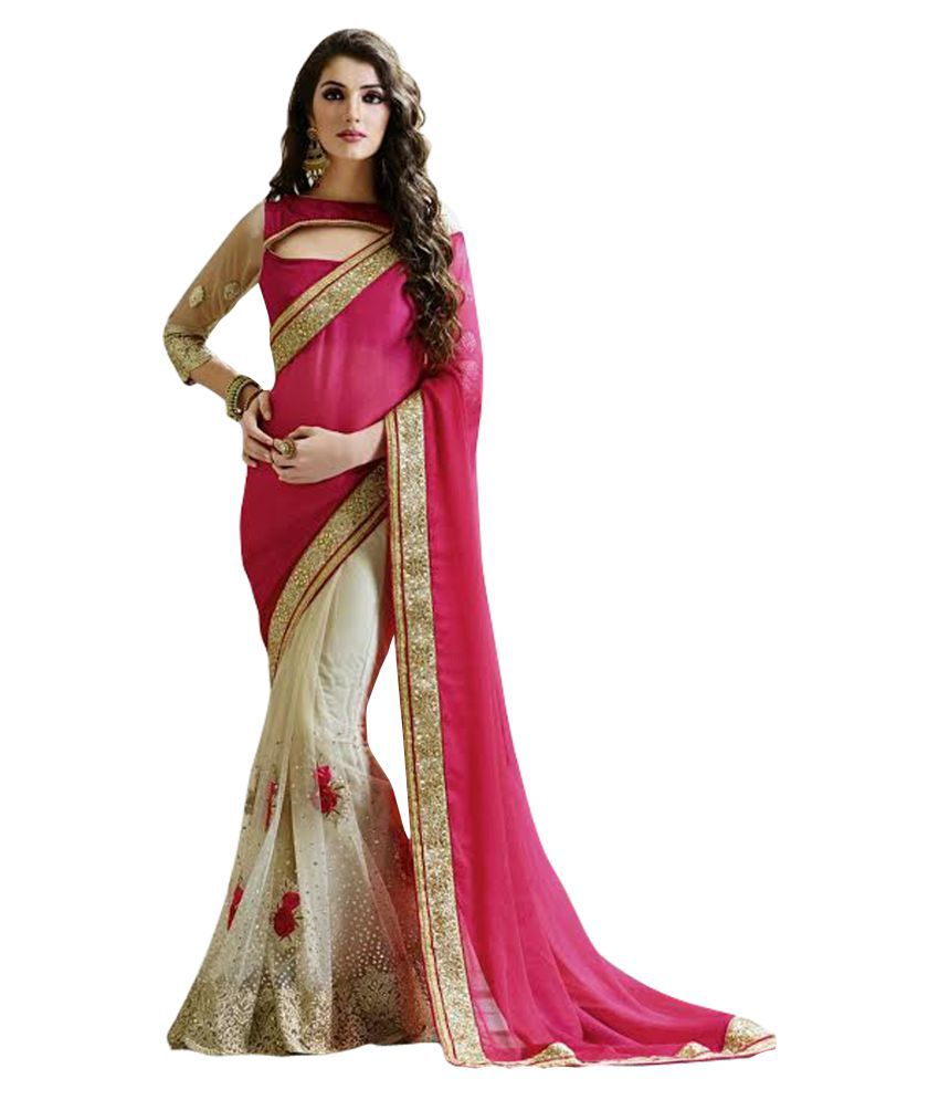 Laxmipati fashion Multicoloured Net Saree