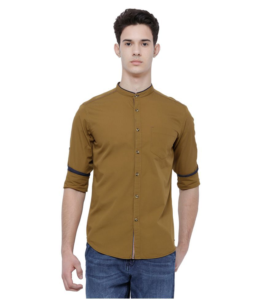 Locomotive Beige Slim Fit Shirt