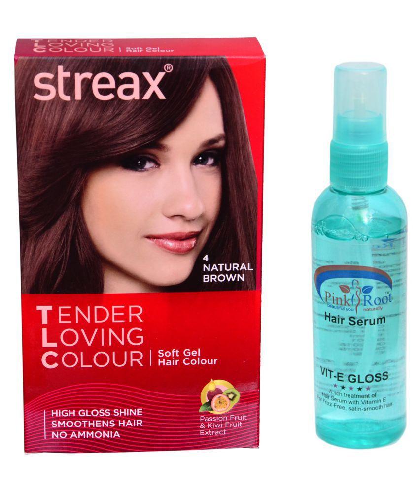 Streax Semi Permanent Hair Color Brown 30 gm Pack of 2: Buy Streax ...