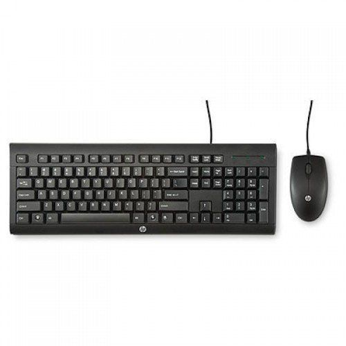 HP C2500 Black USB Wired Keyboard Mouse Combo